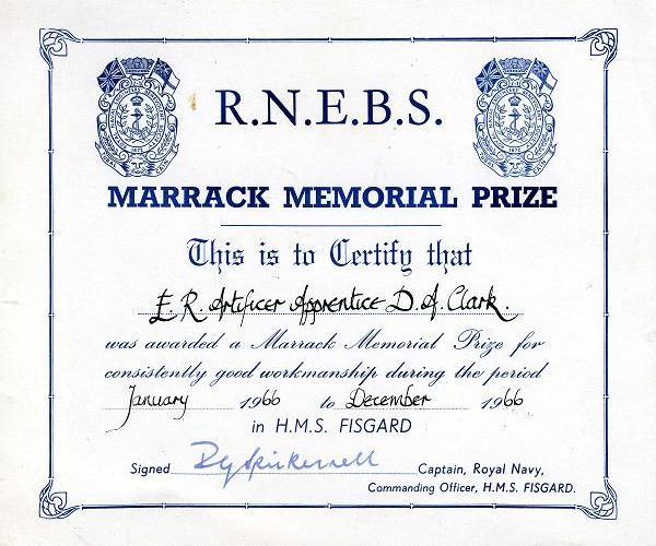 Fisgard Marrack Prize 1966