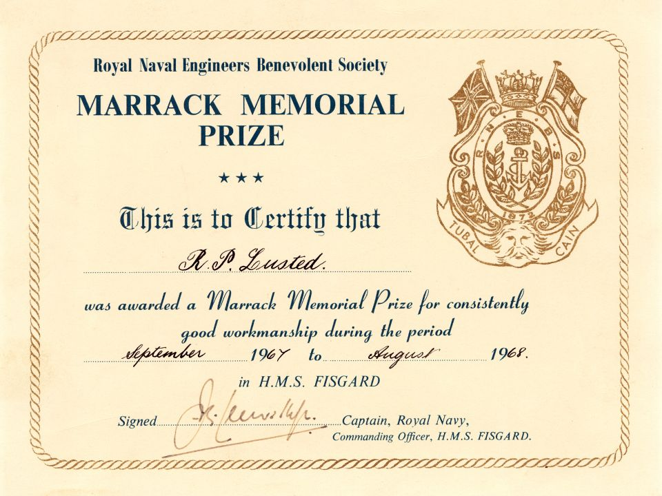 Fisgard Marrack Prize 1968