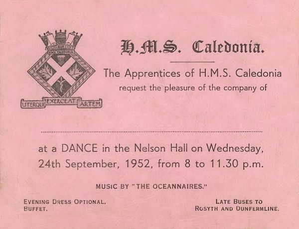 Caledonia Dance Ticket 1952