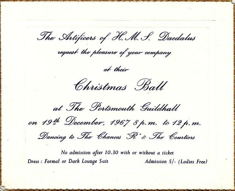 Daedalus Christmas Ball 1967